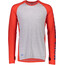 Mons Royale M's Temple Tech LS Shirt Bright Red/Grey Marl